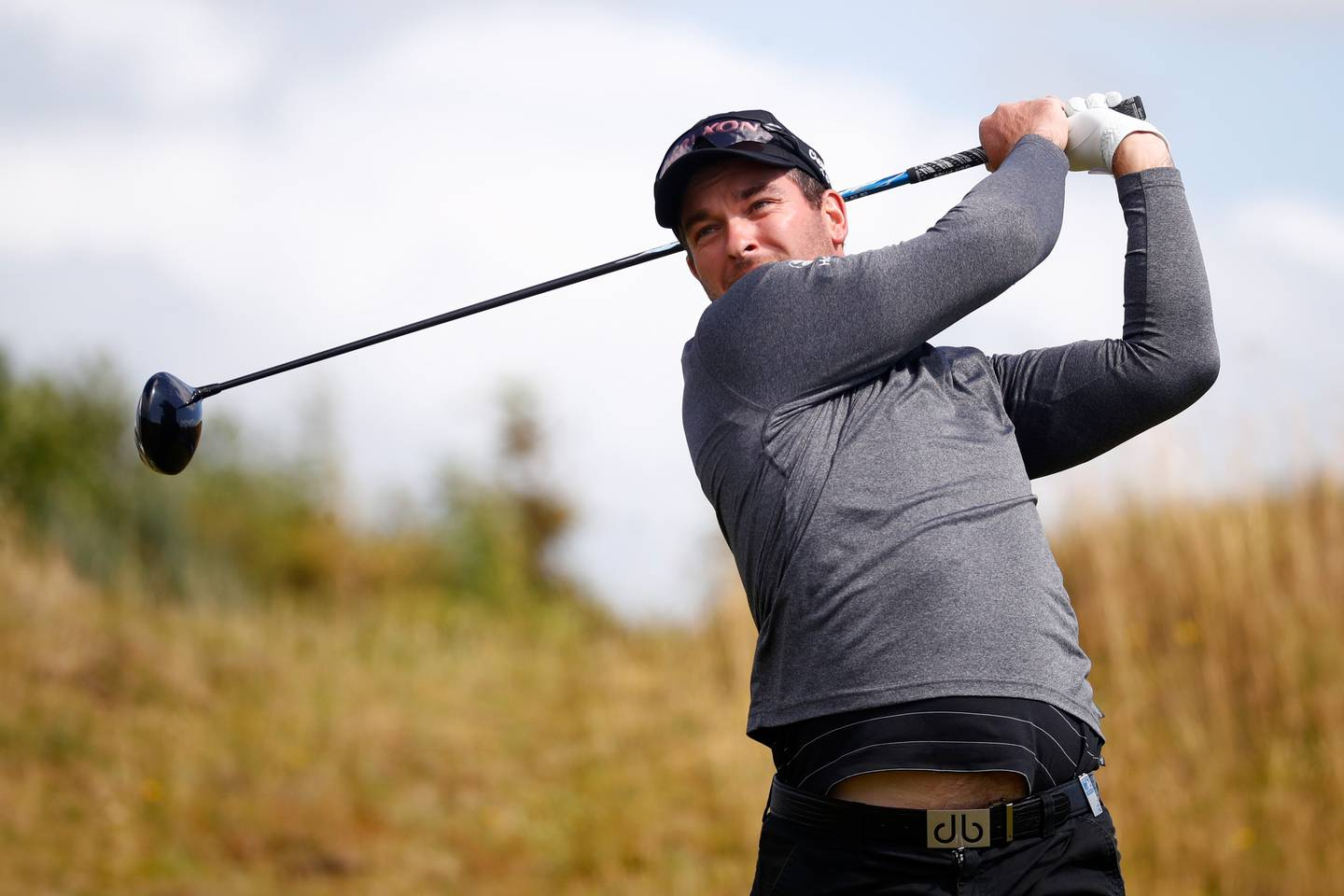 TROON, SCOTLAND - JULY 16:  Ryan Fox of New Zealand tees off on the 2nd hole during the final round of the AAM Scottish Open at Dundonald Links Golf Course on July 16, 2017 in Troon, Scotland.  (Photo by Gregory Shamus/Getty Images)