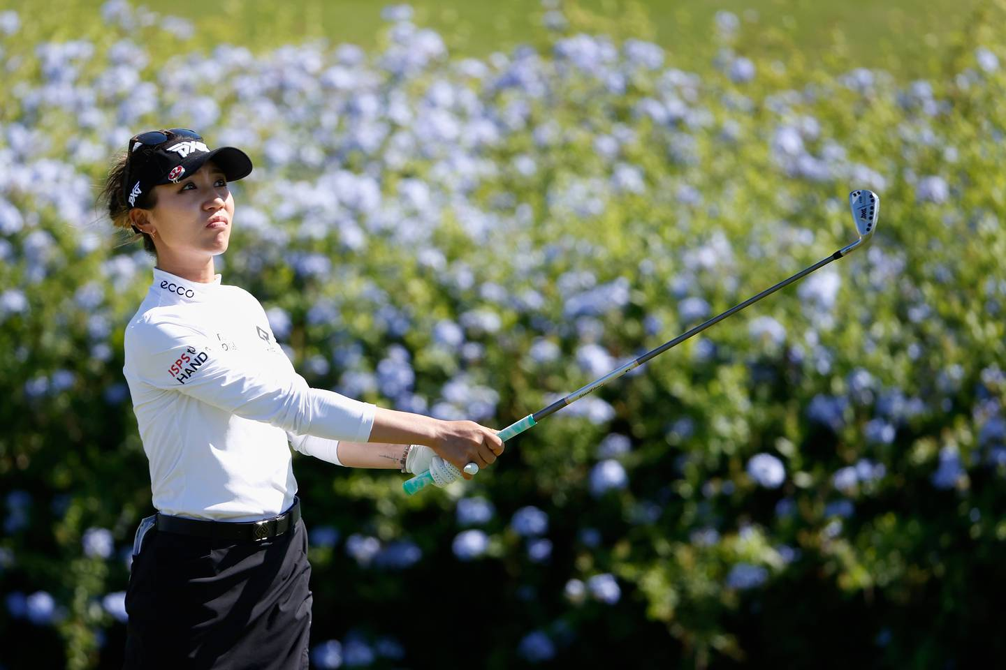KAPOLEI, HAWAII - APRIL 15: Lydia Ko of New Zealand plays a tee shot on the 16th hole during the second round of the LPGA LOTTE Championship at Kapolei Golf Club on April 15, 2021 in Kapolei, Hawaii. (Photo by Christian Petersen/Getty Images)