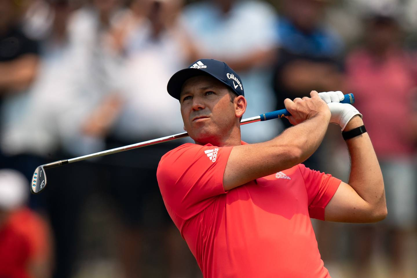 SYDNEY, AUSTRALIA - DECEMBER 05: Sergio Garcia plays a approach shot on the 1st hole during round 1 of The Australian Open Golf at The Australian Golf Club on December 05, 2019 in Sydney, Australia. (Photo by Speed Media/Icon Sportswire)
