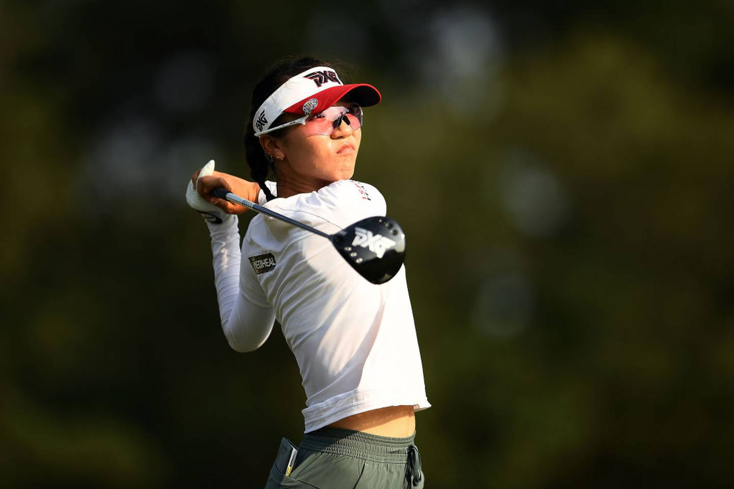 Lydia Ko tees off at the US Women's Open