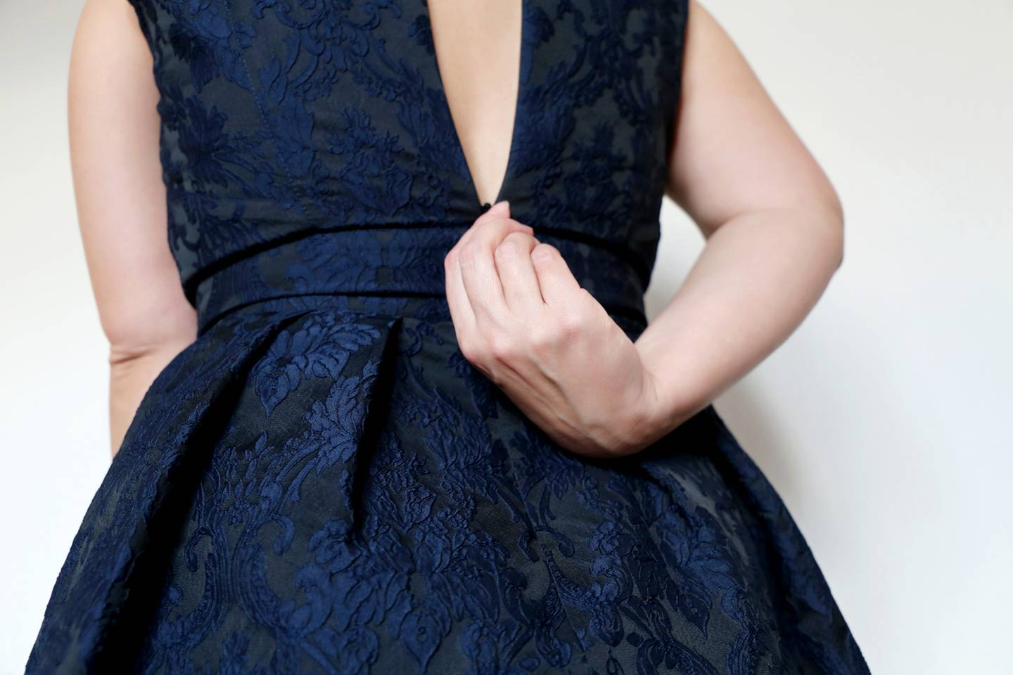 Generic photo of someone trying on a dress