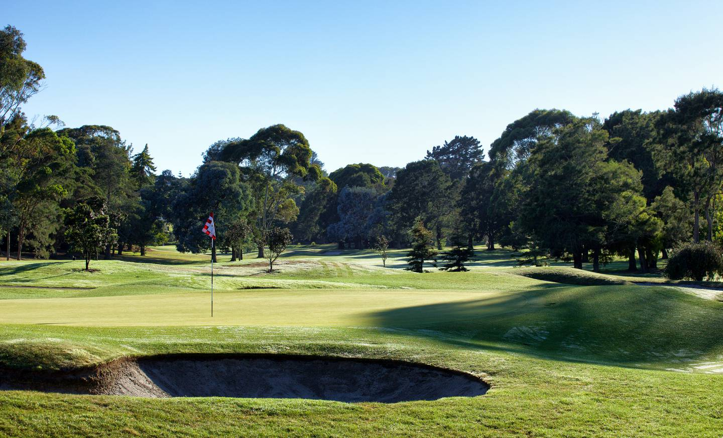 Remuera Golf Course in the eastern suburbs of Auckland - stock photo