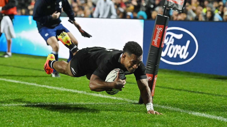 Sevu Reece scores against Fiji.
