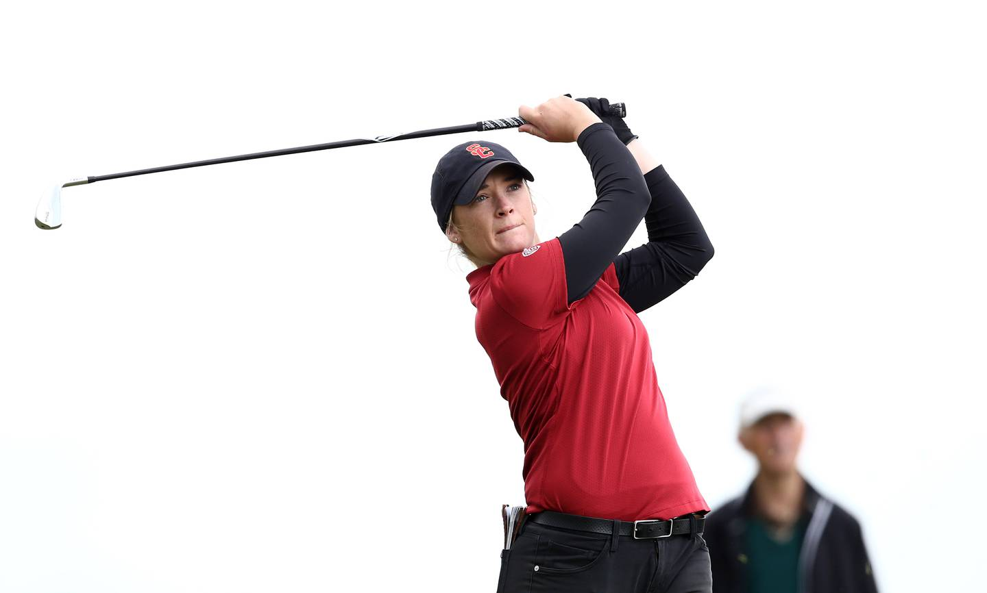 NEWCASTLE, NORTHERN IRELAND - JUNE 15: Amelia Garvey of New Zealand in action during the morning semi final matchplay on day five of the R&A Womens Amateur Championship at Royal County Down Golf Club on June 15, 2019 in Newcastle, Northern Ireland. (Photo by Jan Kruger/R&A/R&A via Getty Images)