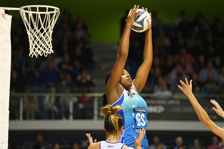 Grace Nweke. ANZ Premiership netball, Northern Mystics v Northern Stars. The Trusts Arena, Auckland. Sunday 6 June 2021. © image by Andrew Cornaga / www.photosport.nz