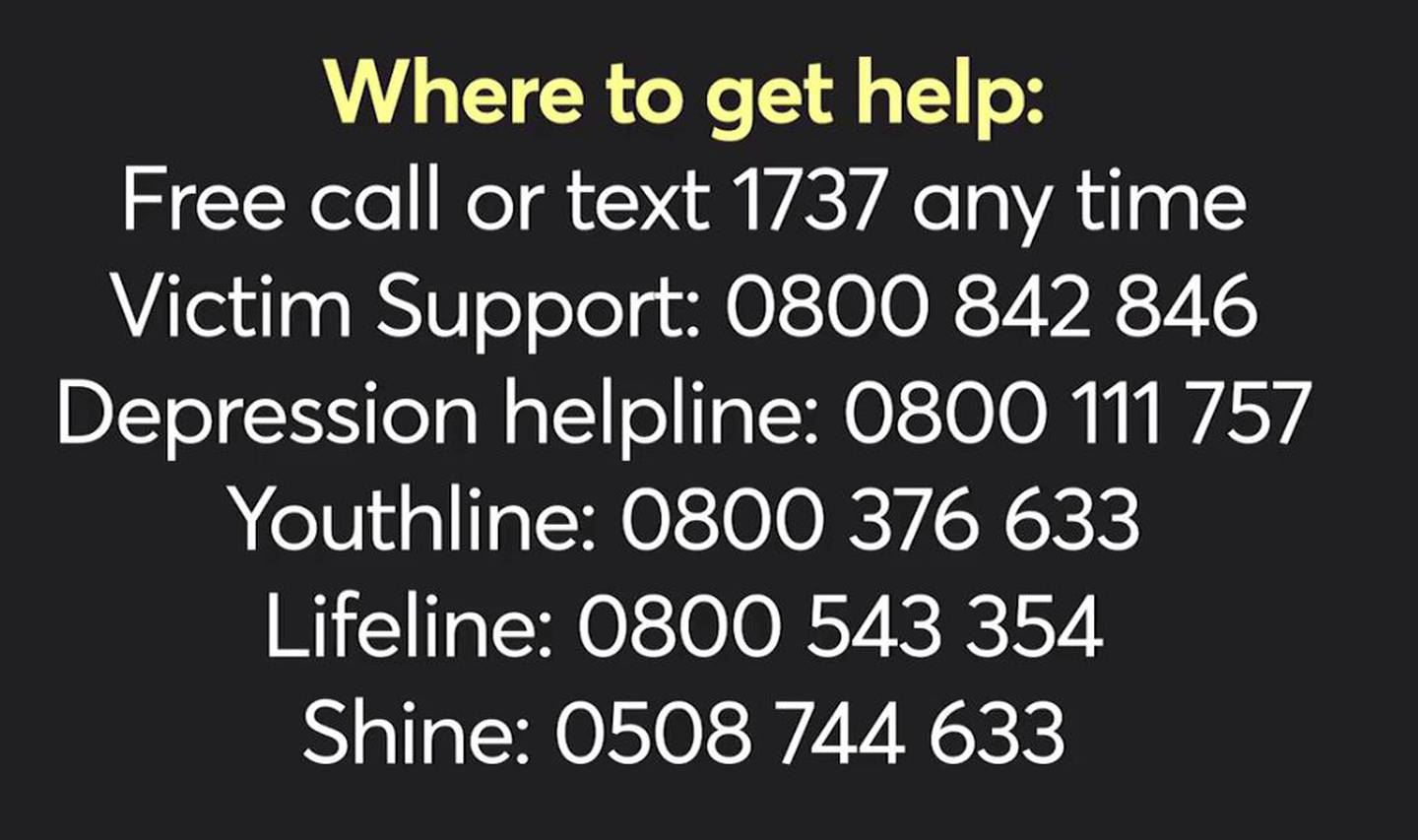 Where to get help, help, lines, helplines, suicide, numbers, number, call, support, get