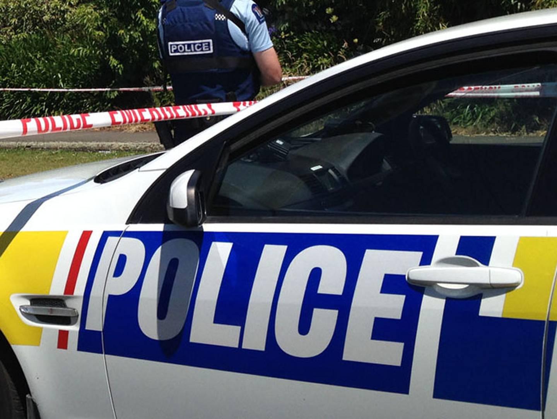 Police emergency scene
