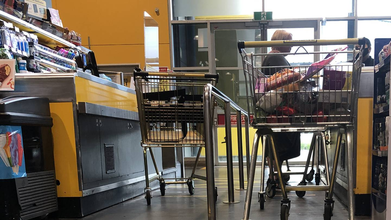 A file image of a supermarket checkout.
