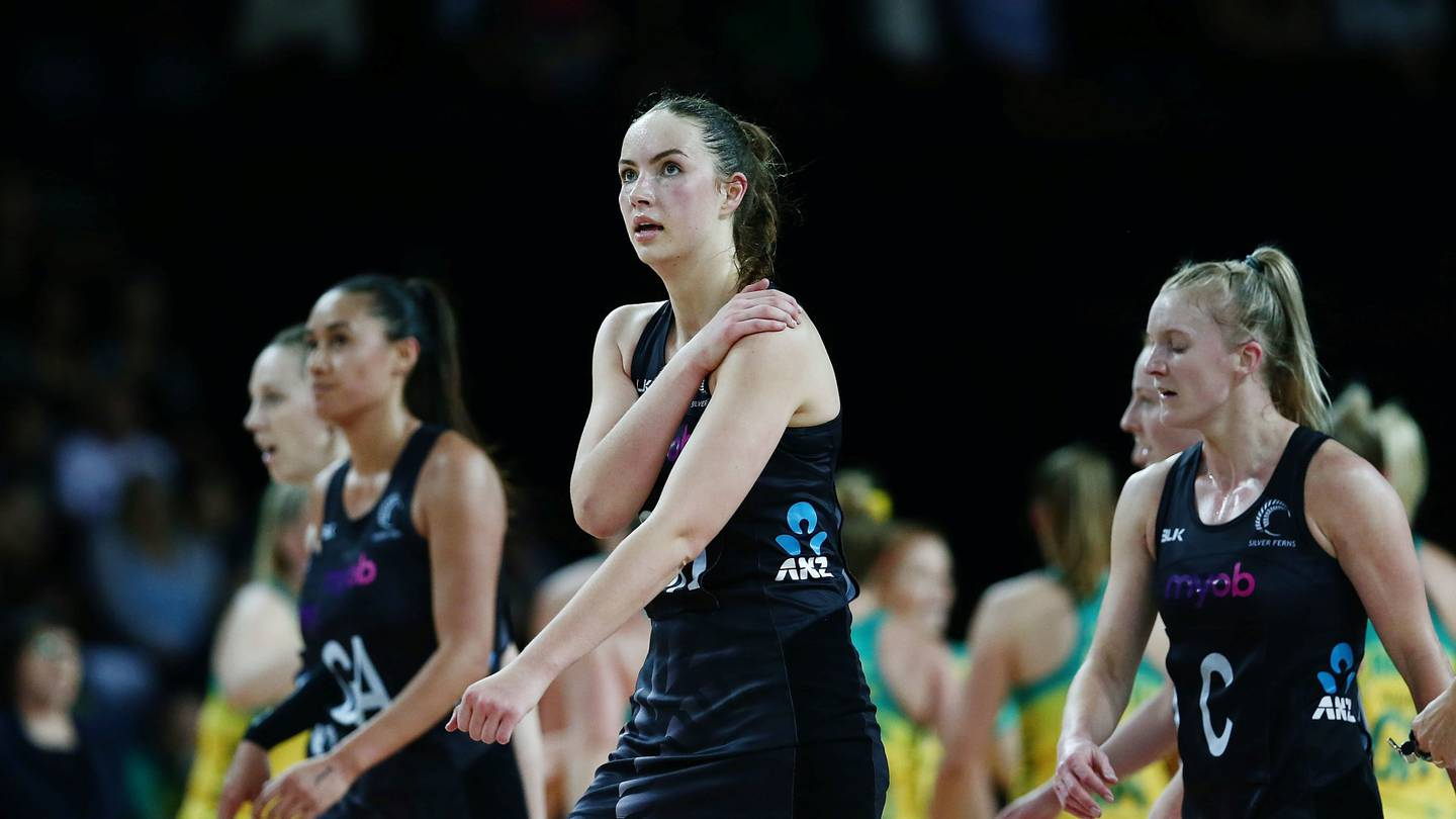 Kelly Jury of New Zealand looks on. 2017 Constellation Cup match, New Zealand Silver Ferns v Australian Diamonds at Spark Arena, Auckland, New Zealand. 5 October 2017 © Copyright Photo: Anthony Au-Yeung / www.photosport.nz