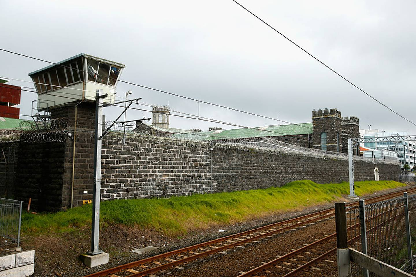 AUCKLAND, NEW ZEALAND - JULY 28:  General views of Mt Eden Prison on July 28, 2015 in Auckland, New Zealand. The correctional facility, which is managed by Serco, has been in the spotlight following reports of prisoner abuse.  (Photo by Phil Walter/Getty Images)