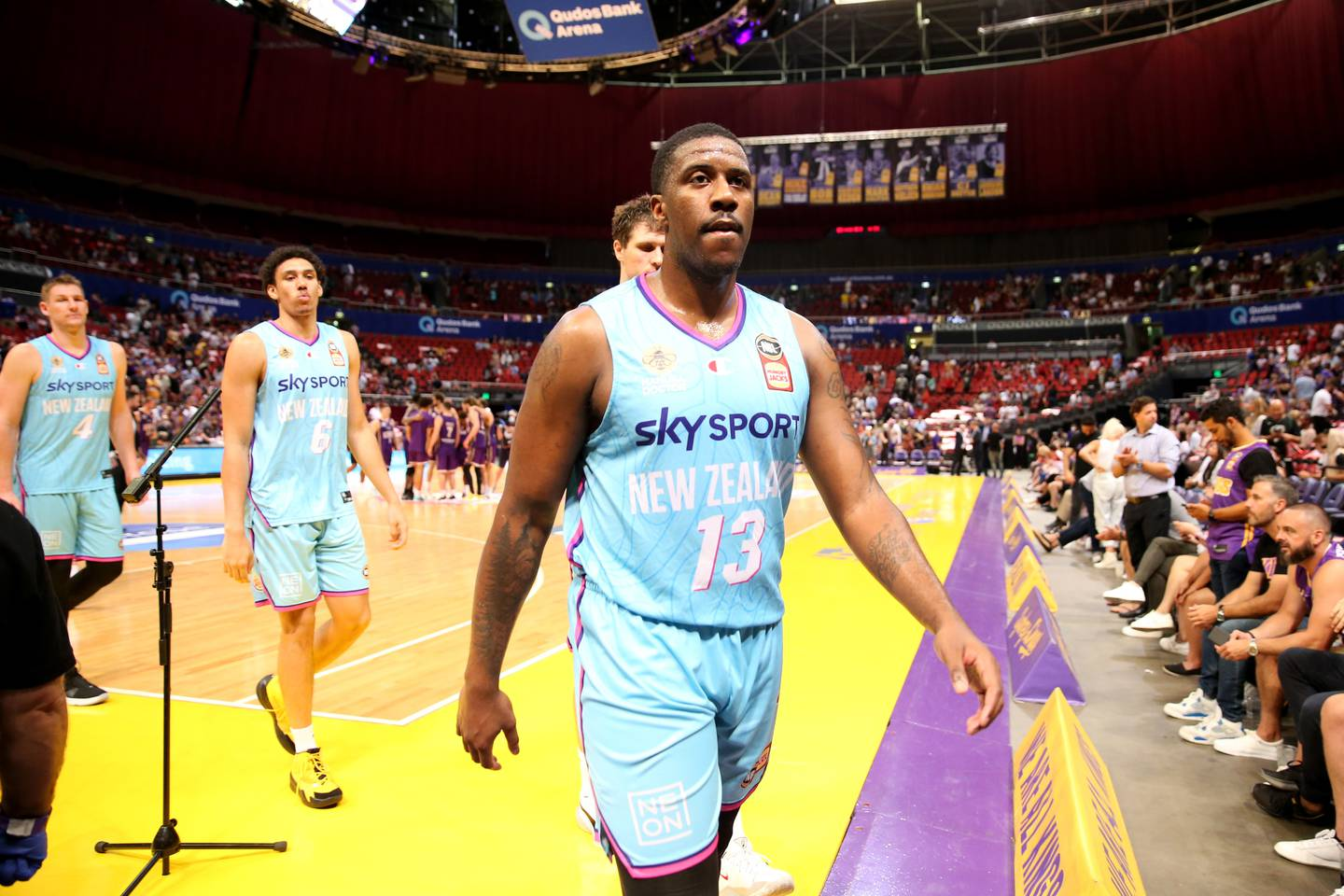 Lamar Patterson. Sydney Kings v New Zealand Breakers. NBL Round 5 played at Qudos Bank Arena, Sydney on Friday 12 February 2021. Photo Clay Cross / photosport.nz