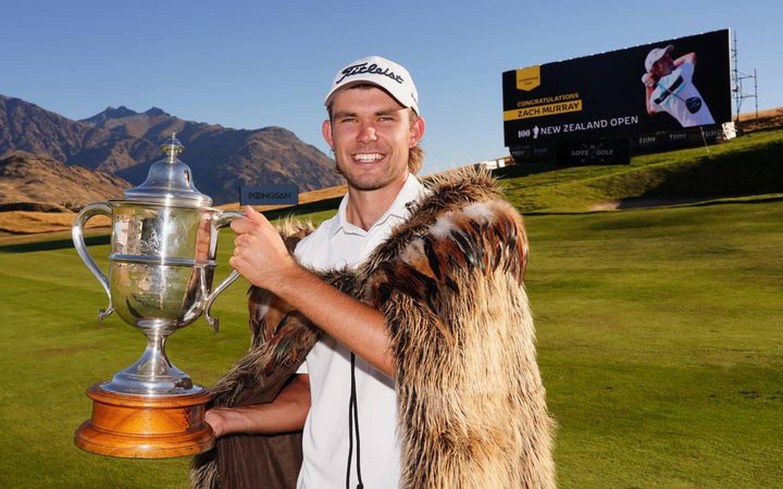 Zach Murray of Australia, winner of the NZ Open.