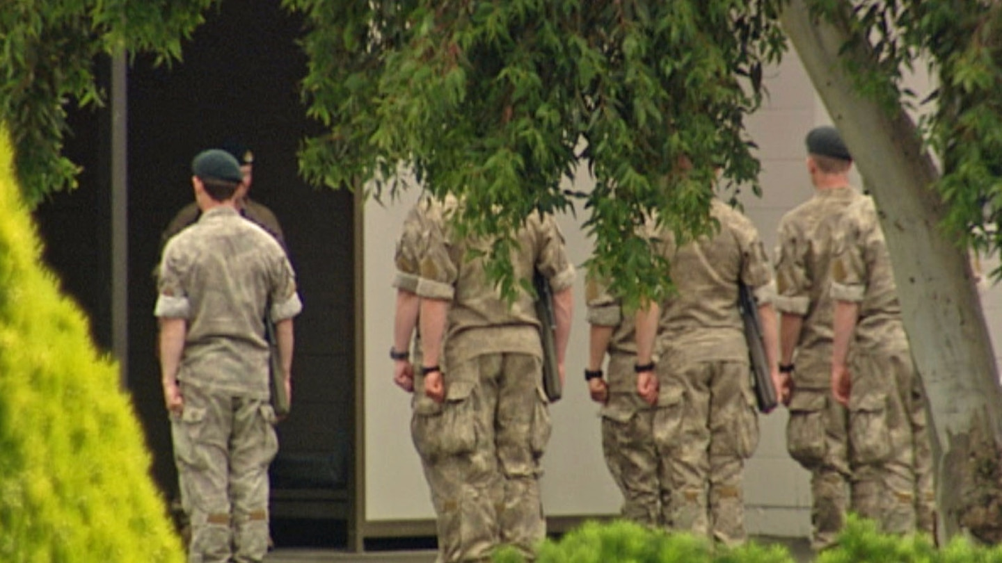 The soldier is also accused of possessing a copy of the Christchurch terrorist attack livestream.
