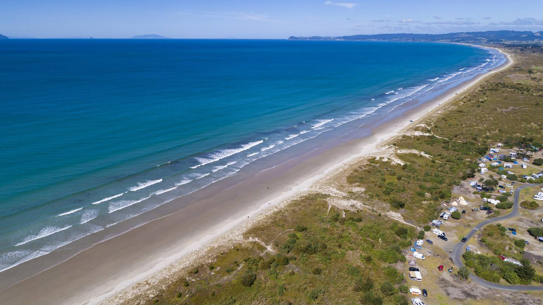 Uretiti Beach and DOC campsite in Waipu, Northland (file image).