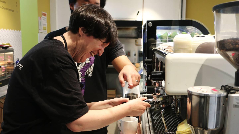 Te Tuhi Café trainee Rachel Martin.